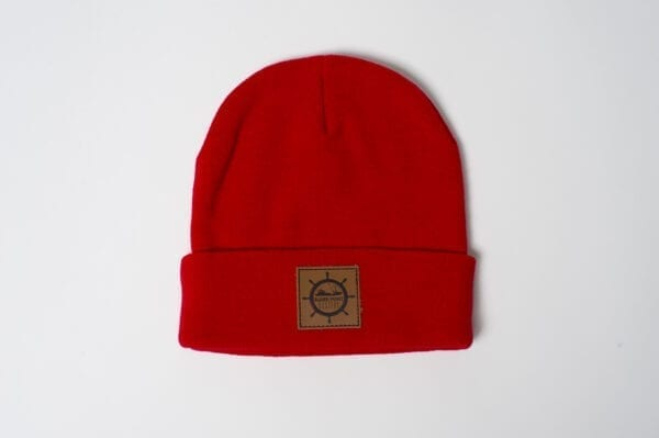 Elder Point Oysters Knit Beanie Red