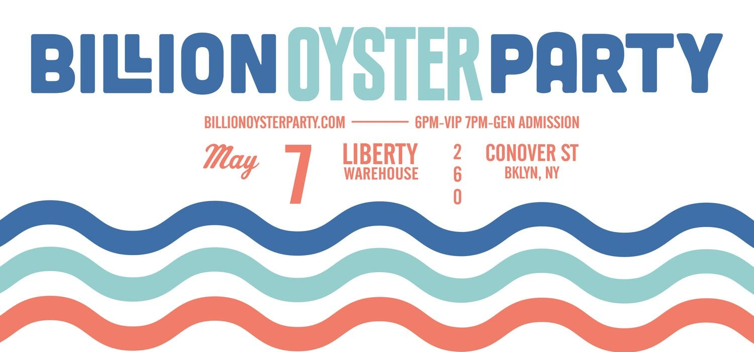 Billion Oyster Party NYC art